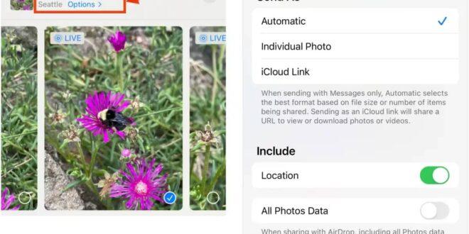 طريقة إزالة بيانات الموقع من صور آيفون