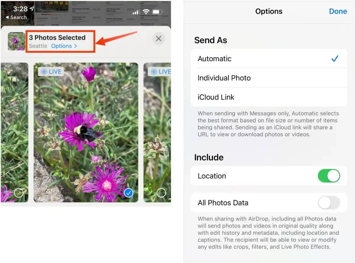 طريقة إزالة بيانات الموقع من صور آيفون - طريقة إزالة بيانات الموقع من صور آيفون التي ترسلها