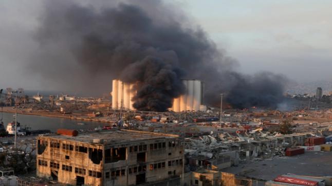 عاجل انفجار في بيروت عشرات القتلى وآلاف الجرحى بمنطقة الميناء